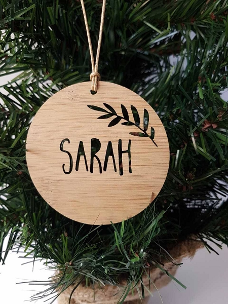 Fern Floral Personalised Christmas Ornament